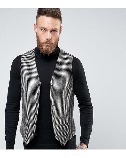 Heart & Dagger - Blue Skinny Waistcoat In Check for Men - Lyst