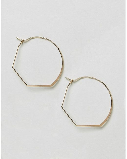ASOS | Metallic Ultra Fine Abstract Hoop Earrings | Lyst