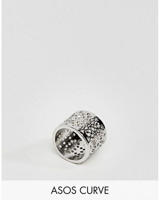 ASOS | Metallic Exclusive Filigree Cut Out Ring | Lyst