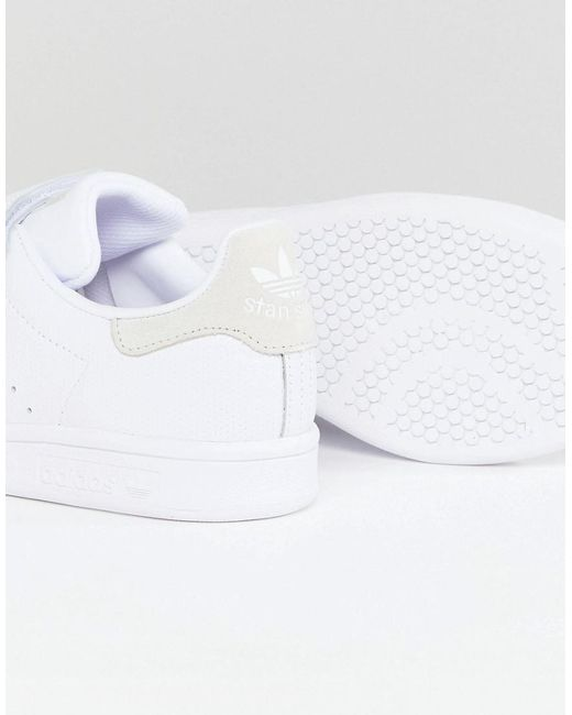 cheap sale Manchester adidas Originals Stan Smith Comfort Trainers In White And Grey outlet view websites cheap online discount cost outlet low price XgIJu1rpy