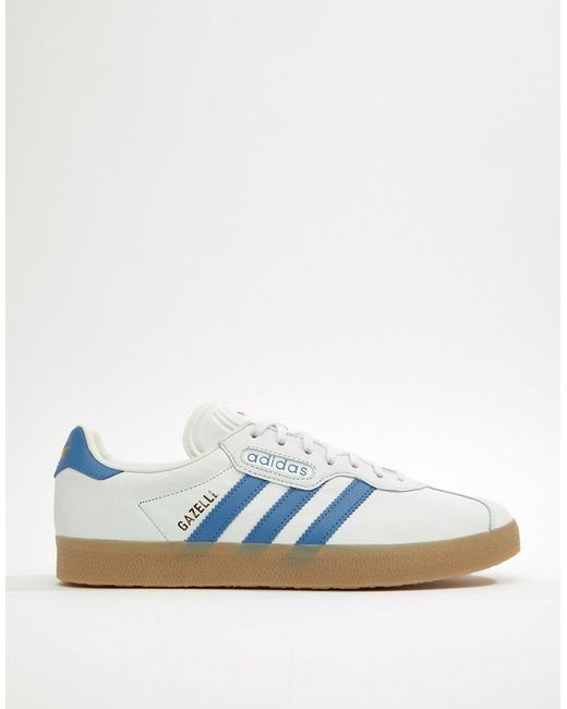 a5373b997183 ... Adidas Originals - Gazelle Super Sneakers In White Cq2798 for Men - Lyst