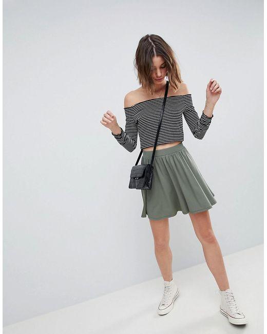 ASOS - Green Design Mini Skater Skirt - Lyst