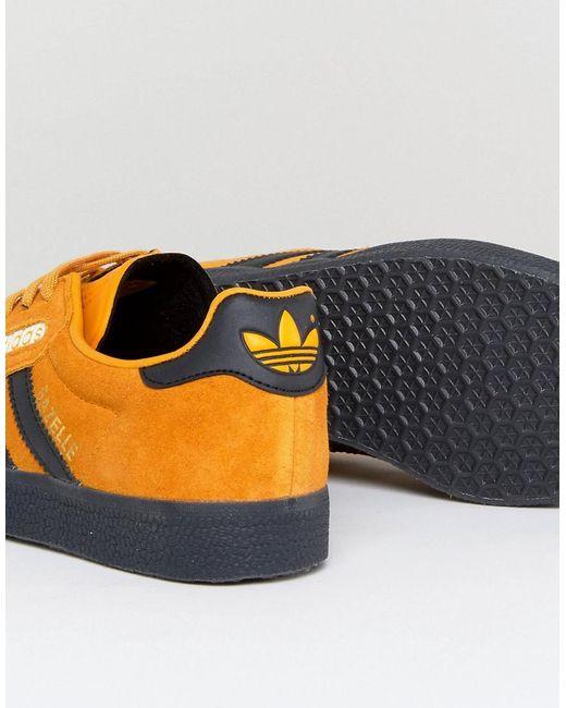 Gazelle Super Trainers In Yellow With Dark Gum - Yellow adidas Originals HilXPDPJz