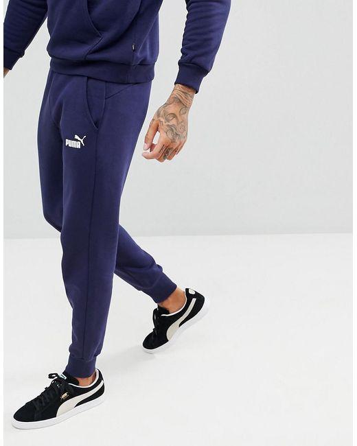 cc21c1469615 PUMA - Blue Essential Skinny Joggers In Navy 85175306 for Men - Lyst ...