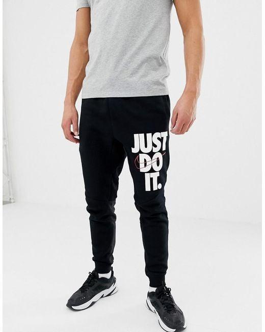 00b8a5836 Nike Jdi Logo Skinny Joggers In Black 931903-010 in Black for Men - Lyst