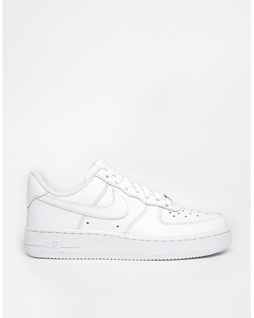 43fcbbe47d9 Nike Air Force 1  07 White Trainers in White - Lyst