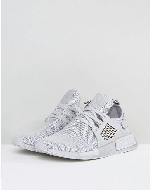 lyst adidas originals nmd xr1 silber auftrieb ausbilder in grau by9923