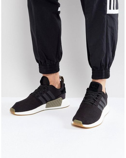 df239e24da6bc adidas Originals Nmd R2 Sneakers In Black By9917 in Black for Men - Lyst