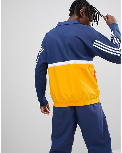 Adidas originals Nova Pullover Track Jacket In Navy Ce4811 in Blue ...