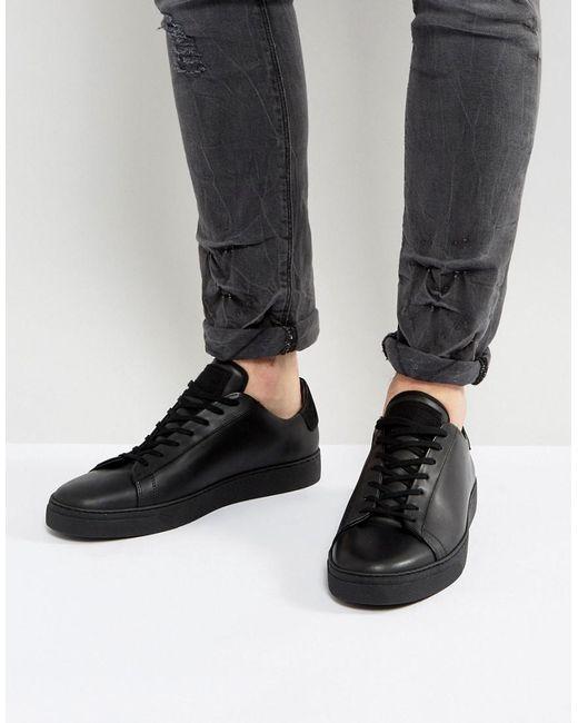AllSaints   Black Low Top Sneaker for Men   Lyst