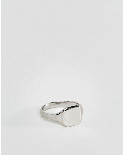 ASOS DESIGN - Metallic Pinky Ring In Silver Tone for Men - Lyst