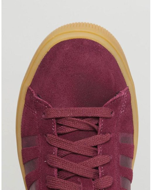 Hot Sale Sale Online Court Frasco Trainers In Burgundy With Gum Sole - Red K-Swiss Free Shipping Collections xNN7W