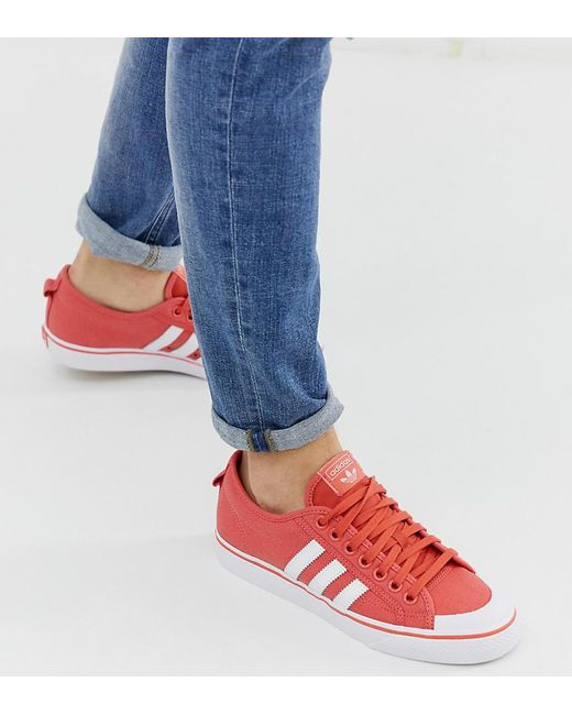 best service a9ed7 b07cf Adidas - Red Originals Unisex Nizza Trainer for Men - Lyst ...