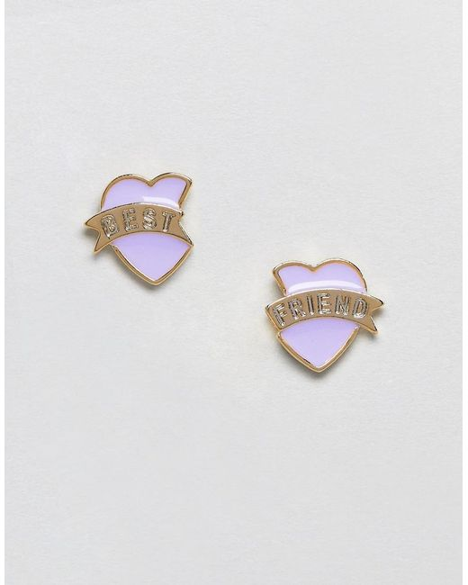 ASOS | Pink Limited Edition Best Friend Stud Earrings | Lyst