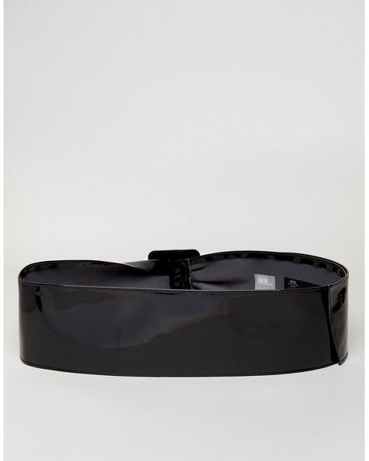 80 Courroie De Ceinture De Taille De Brevet Avec Boucle Carrée - Courbe De Noir Asos Do3sBlmoAK