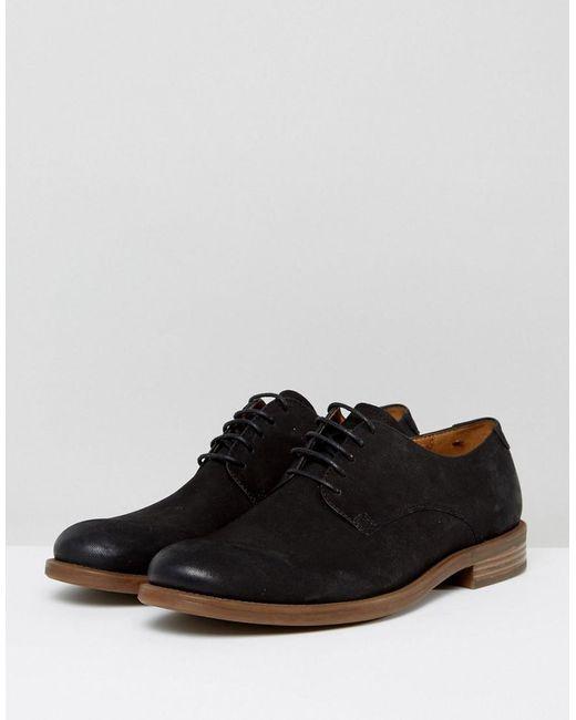 Salvatore Suede Derby Shoes - Black Vagabond lh38dX