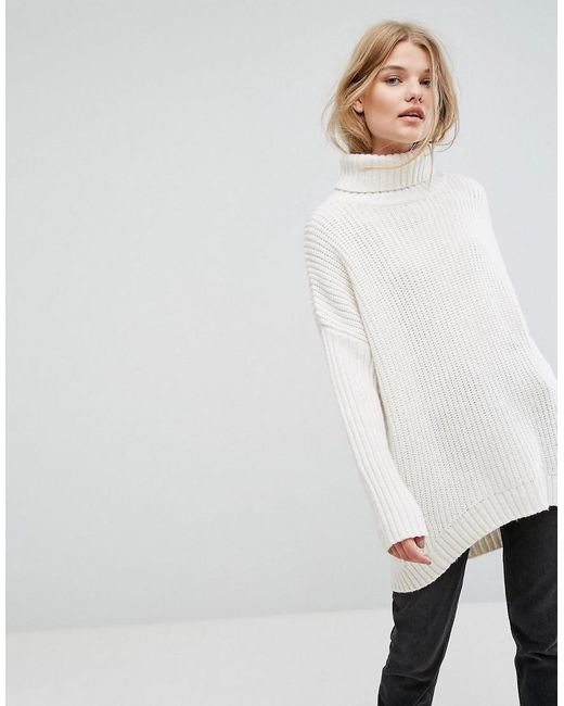 Weekday - Multicolor Turtle Neck Fluffy Knit Jumper - Lyst