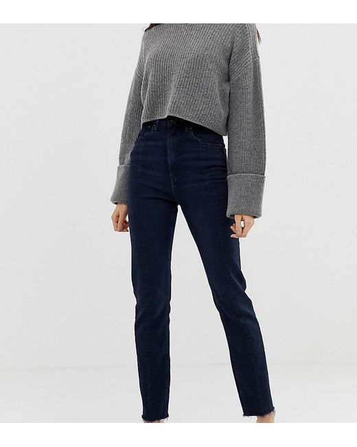 e74048f1444 ASOS - Asos Design Tall Recycled Farleigh High Waist Slim Mom Jeans In Dark  Wash Blue ...