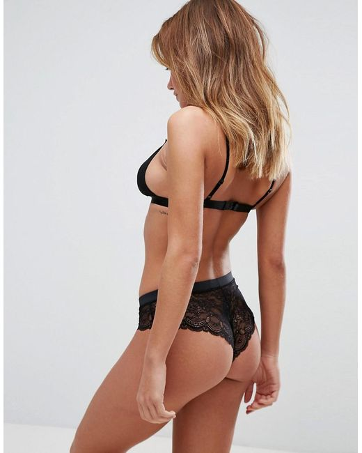 a40cd5a868 ... ASOS - Black Asos 3 Pack Microfibre   Lace French Knicker - Lyst