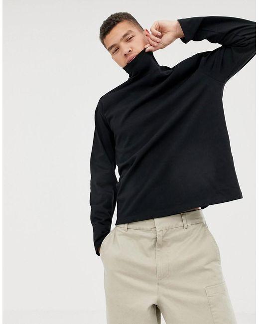 82397364 ASOS - Black Loose Fit Long Sleeve T-shirt With Turtleneck for Men - Lyst  ...