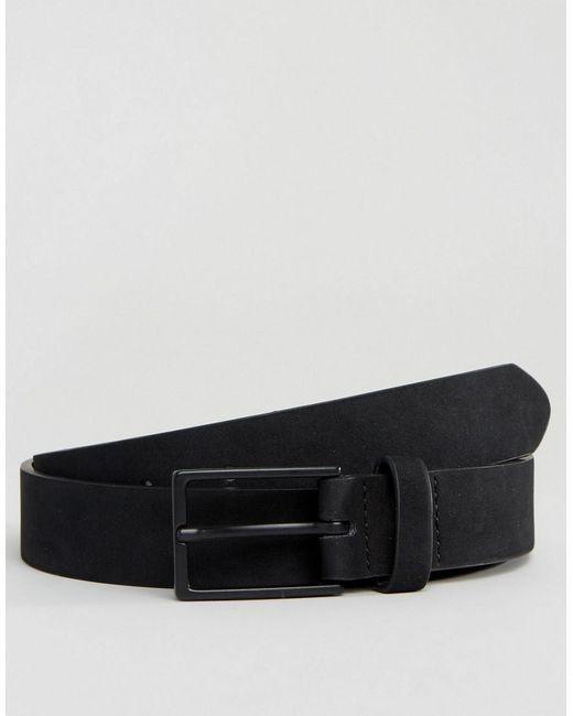ASOS - Smart Slim Belt In Black Faux Suede for Men - Lyst