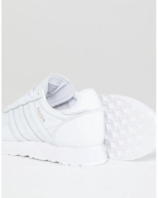 Made In Germany Formateurs Havre De Paix En Cuir Blanc Haut De Gamme - Blanc Adidas Originals Vente Pas Cher Pas Cher xt1ksHP
