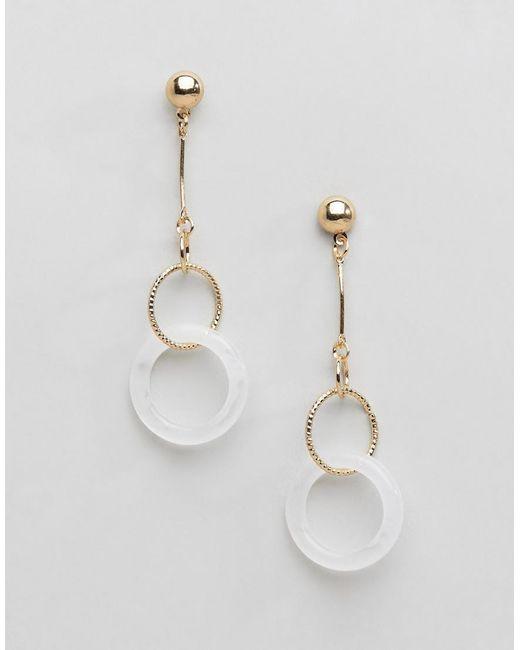 Ashiana - Metallic Drop Hoop Earrings - Lyst