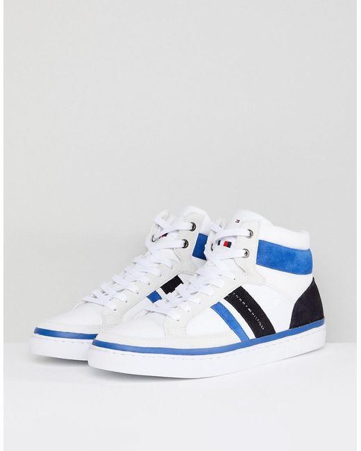 ... Tommy Hilfiger - Maze High Top Trainers In White - Lyst ...