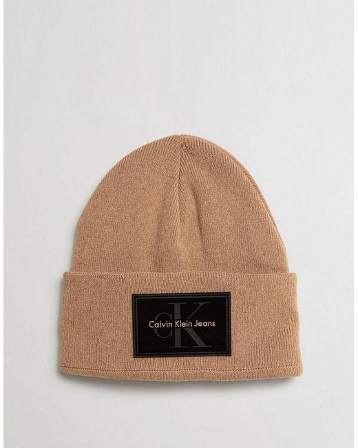 contrast logo beanie hat - Red CALVIN KLEIN 205W39NYC 3CKxDC