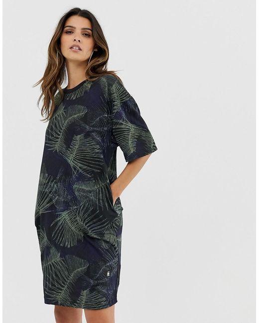 620d0decf3e G-Star RAW - Multicolor Yiva Organic Cotton T-shirt Dress In Camo ...