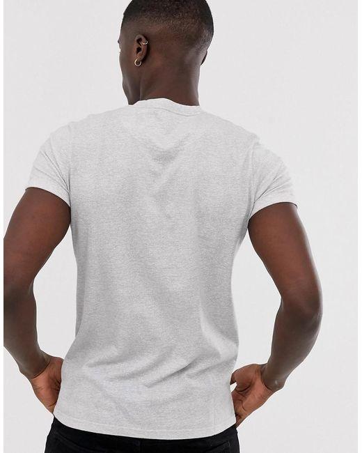 8bddab3da189 ... Hollister - Icon Logo Slim Fit T-shirt In White Streaky Marl for Men -