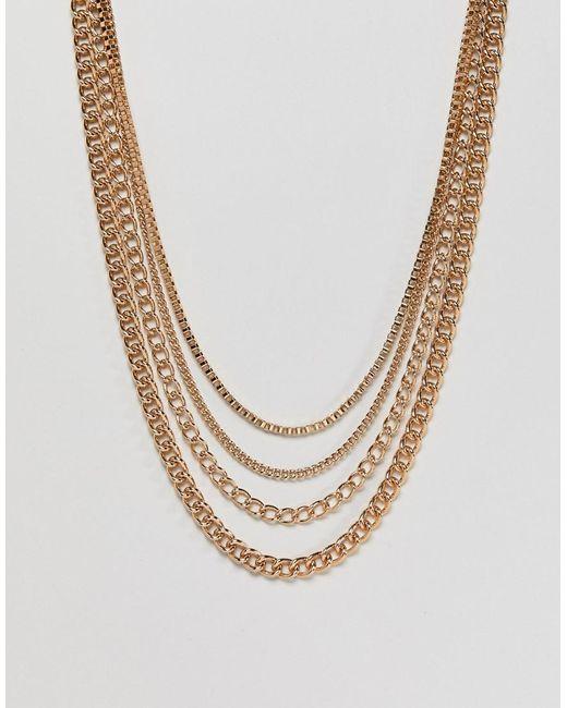 ASOS | Metallic Gold Chain Pack In Shorter Length for Men | Lyst