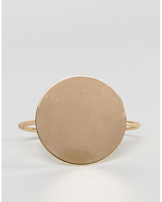 Glamorous | Metallic Circle Detail Cuff Bracelet | Lyst