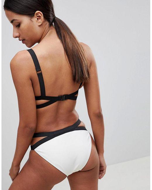 Double Strap Mono Bikini Bottom - White Missguided Cheap Sale Great Deals oqRslbzRD