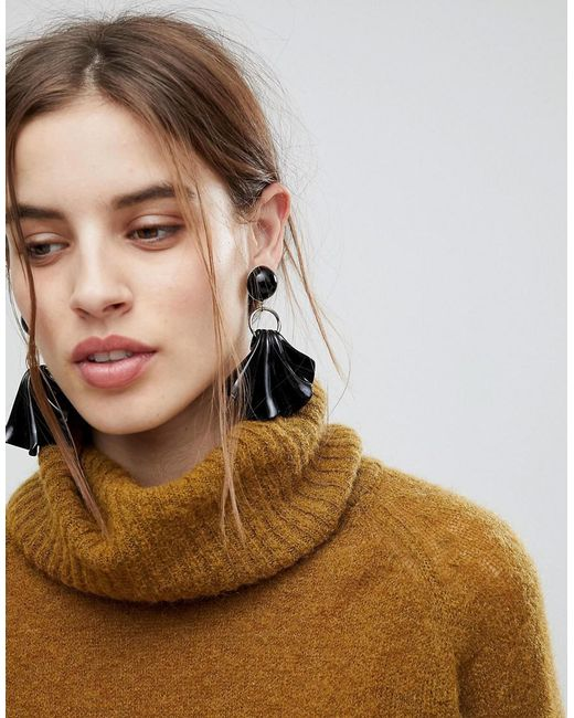 ASOS | Metallic Statement Folded Resin Drop Earrings | Lyst