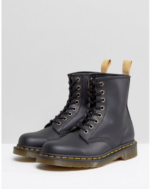 eb4f7a141e73 Dr. Martens Vegan 1460 8 Eye Boots in Black - Save 9% - Lyst