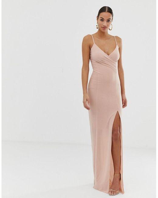 d54bb5c5476fa AX Paris - Multicolor Thigh Split Maxi Dress - Lyst ...