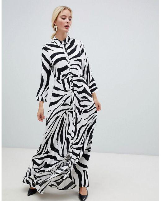 Y.A.S - Multicolor Zebra Print Shirt Dress - Lyst