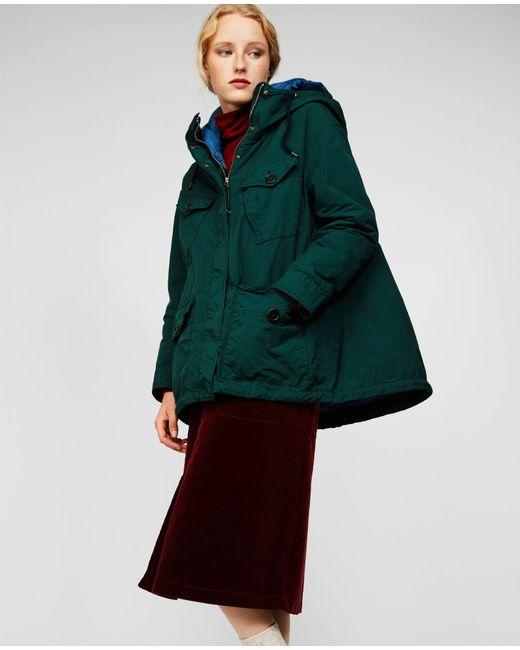 Aspesi - Green Garment Dyed Nylon Hooded Parka Sorbole - Lyst