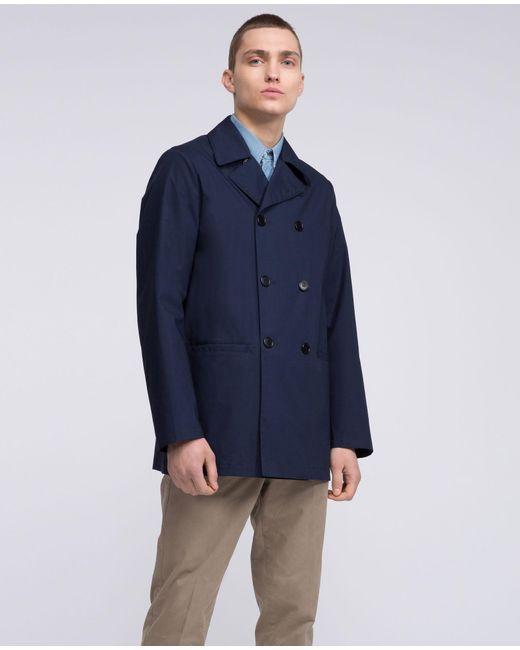 Aspesi - Blue Raincoat Ritecno Sidecar Ii for Men - Lyst ...