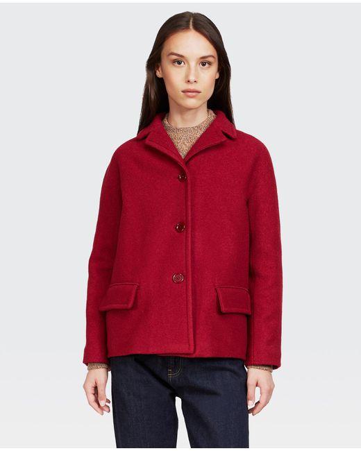 Aspesi Red Loose-fitting Kimono Jacket