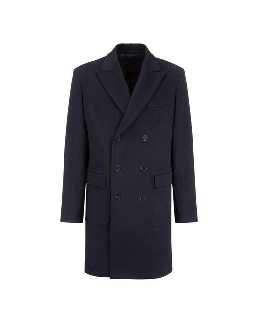 Aspesi   Blue Wool Coat Importante for Men   Lyst