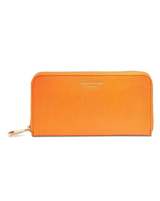 Aspinal - Orange Continental Zip Around Wallet - Lyst