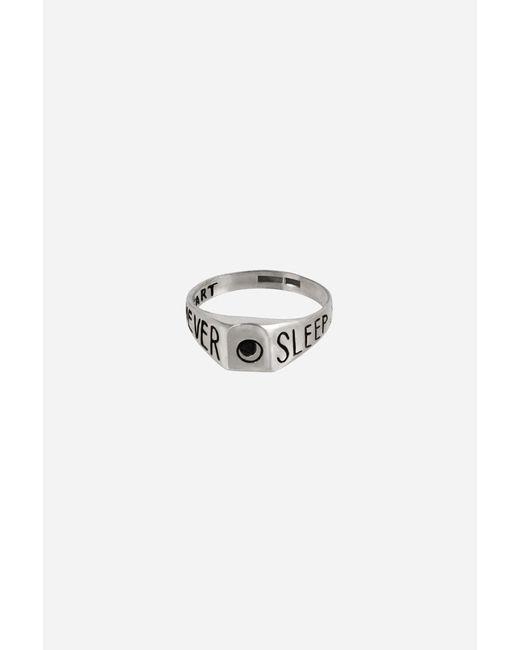Nikolai Rose   Metallic Sterling Silver Never Sleep Ring for Men   Lyst