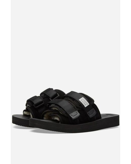 Suicoke Moto-vm Neoprene Slide in Black for Men