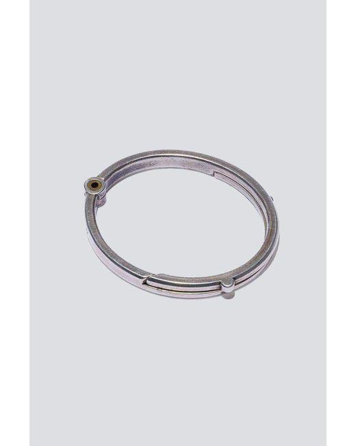 Giles & Brother - Metallic Silver Oxide Latch Cuff - Lyst