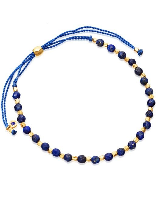 Astley Clarke | Black Lapis And 18ct Yellow Gold-plated Skinny Biography Bracelet | Lyst