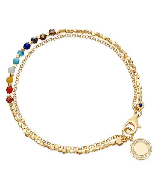 Astley Clarke | Metallic Peach Blush Woven Biography Bracelet | Lyst