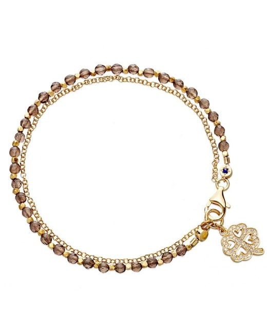 Astley Clarke | Metallic Smoky Quartz Four Leaf Clover Biography Bracelet | Lyst