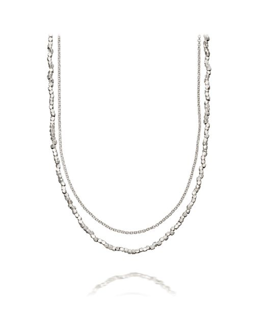 Astley Clarke | Metallic Nugget Detail Biography Necklace | Lyst
